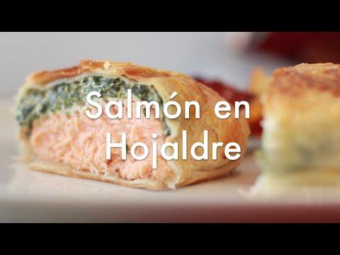 Salmón en Hojaldre con Espinacas - Recetas con Hojaldre