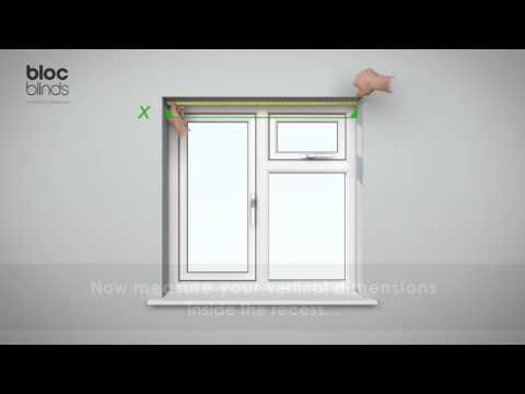 How to Measure - Roller Blind Recess