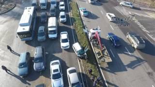 Страшная авария Алматы Рыскулова Шемякина камаз наехал на легковушку