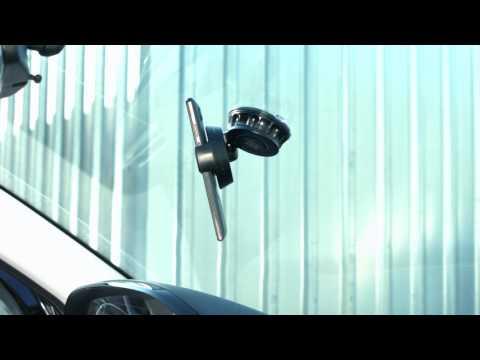 Lescars Kfz-Smartphone-Halterung für Frontscheibe & Armaturenbrett