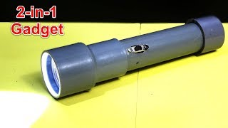 how-to-make-flashlight-with-power-bank-using-pvc-pipe