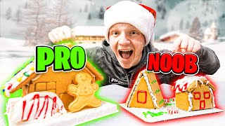 PRO vs NOOB GINGERBREAD BUILD OFF CHALLENGE!