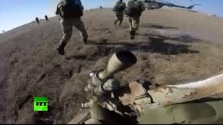 Russian troops in hell-of-a combat drill action: Go-Pro, drones, snipers & more