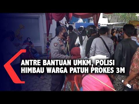 antre bantuan umkm polisi himbau warga patuh prokes m
