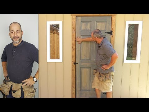 DIY Door and Shed Window Install   How to Build a Shed   Part 5