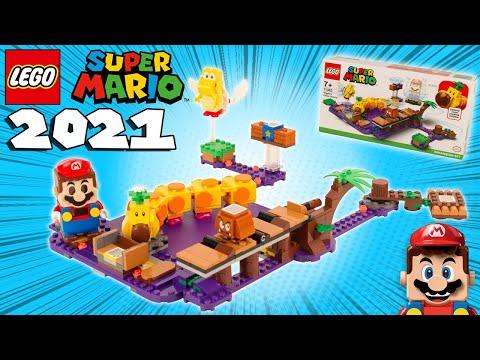 Vidéo LEGO Super Mario 71383 : Le marais empoisonné de Wiggler - Ensemble d'extension