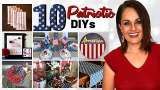 ⭐Absolute TOP 10 Best Patriotic DIY Decor Ideas On a Budget!