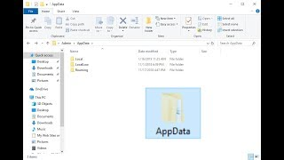 How To Fix AppData Folder Is Missing In Windows 10/8/7