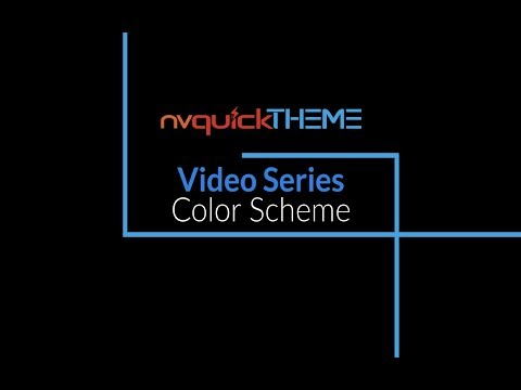 nvQuickTheme Video Series - Color Scheme