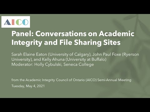 Conversations on Academic Integrity and File Sharing Sites (panel session)