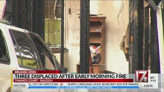 Three displaced after early morning house fire