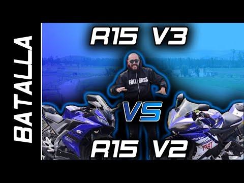 Yamaha R15 v3 vs R15 V2 Drag Race || Quarter mile