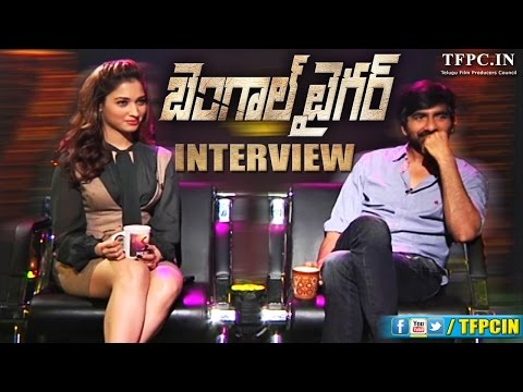 Ravi Teja and Thamannah Interview about Bengal Tiger