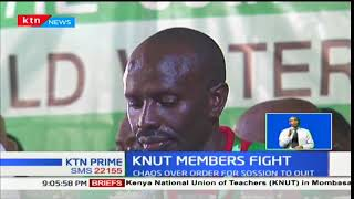 Chaos erupted during the KNUT annual delegates conference