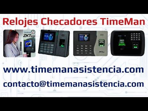 Bienvenido a Relojes Checadores TimeMan - Huella Digital - Facial - ZKTeco - Control de Asistencia