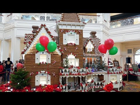 Disney's Grand Floridian Gingerbread House Opening Ceremony Highlights, Overview & Treats 2019