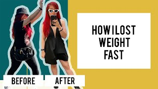 HOW I LOST WEIGHT FAST for my Wedding WITHOUT WORKING OUT or EXERCISING!