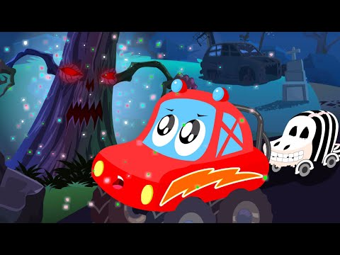 little red car halloween tree scary car song for children