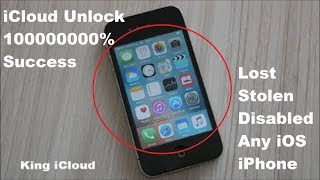 iCloud Unlock 100000000% Success✔ Lost Stolen Disabled✔ Any Apple iPhone iOS✔
