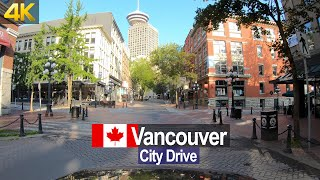 Vancouver Canada – Early Morning City Drive in 4K