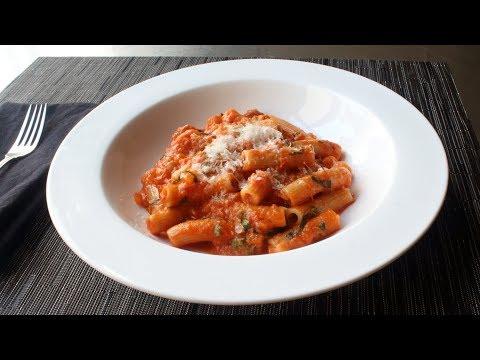 Rigatoni Al Segreto – Rigatoni with Secret Sauce – Gino's Rigatoni Al Segreto
