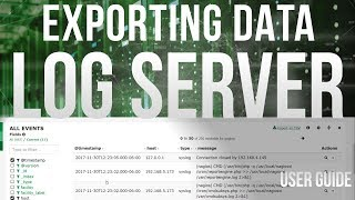 Exporting Data in Log Server 2