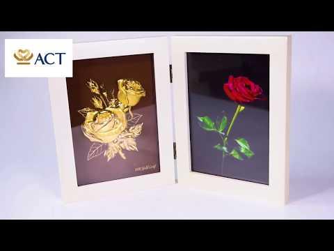 Khung ảnh hoa hồng tình yêu mạ vàng (15x20cm) – ACT GOLD