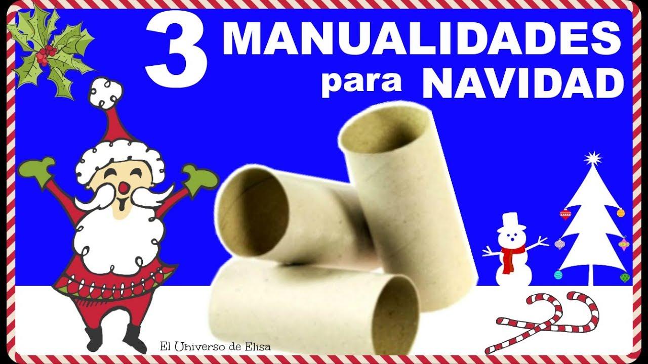 3 IDEAS de MANUALIDADES PARA NAVIDAD  con RECICLAJE, IDEAS para RECICLAR TUBOS DE CARTÓN