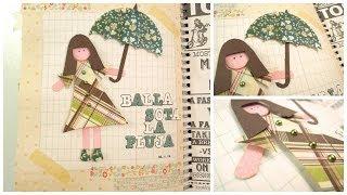 Smash Book Terapia: Baila bajo la lluvia *Cómo hacer un diario de Scrap* Smash book tutorial