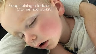 How we did sleep training with our 18 month old toddler
