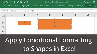 Apply Conditional Formatting to Shapes in Excel