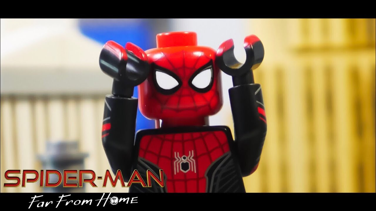 Spider-Man: Far From Home Post Credit Scene in LEGO