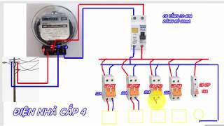 Điện Nhà-Sơ Đồ Đấu Nối Điện Nhà  Dân Dụng Cấp  4(Phần 1)-Home Electrical Wiring