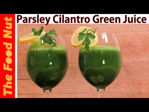Video Parsley And Cilantro Green Juice Recipe With Lemon And Apple For Weight Loss & Detox | The Food Nut
