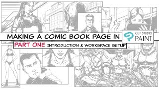 How to make a Comic Book Page in Clip Studio Paint - Part One