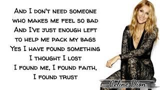 Celine Dion   Lying Down (Lyrics)