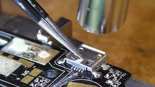 Сборник замены разъёмов micro-USB планшетов и смартфонов. Типичные случаи