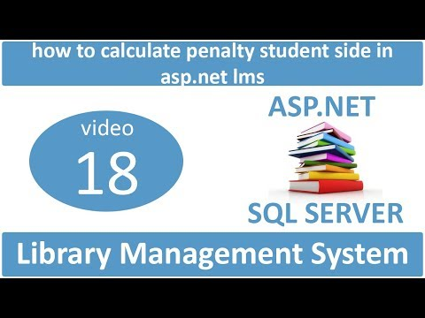 how to calculate penalty student side in asp.net lms