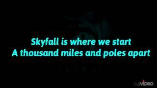 Adele   Skyfall (Lyrics On Screen) 007 Theme Song