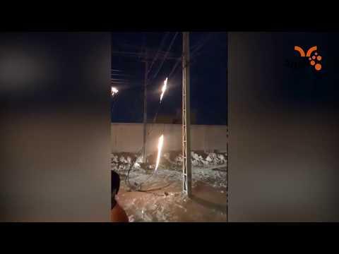 شاهد بالفيديو.. احتراق أسلاك محولة في ياسين خريبط بالبصرة #المربد