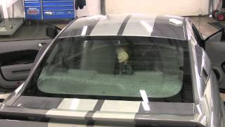 How to Tint a Mustang Back Window