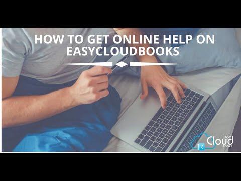 How to get online help on easycloudbooks?