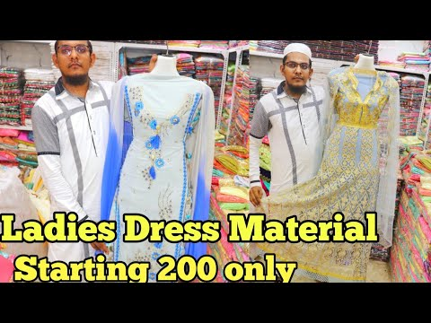 Buy Ladies Dress material 200 onlyLadeis dress marketpydhonie marketal imran