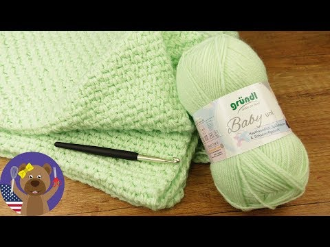Baby Blanket DIY 70x90cm | Easy Crocheting Pattern | Crochet