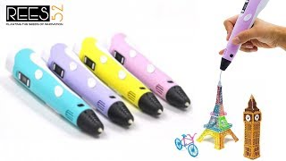 REES52 3D Pen 2nd Generation full Introduction STEP BY STEP make a sketch
