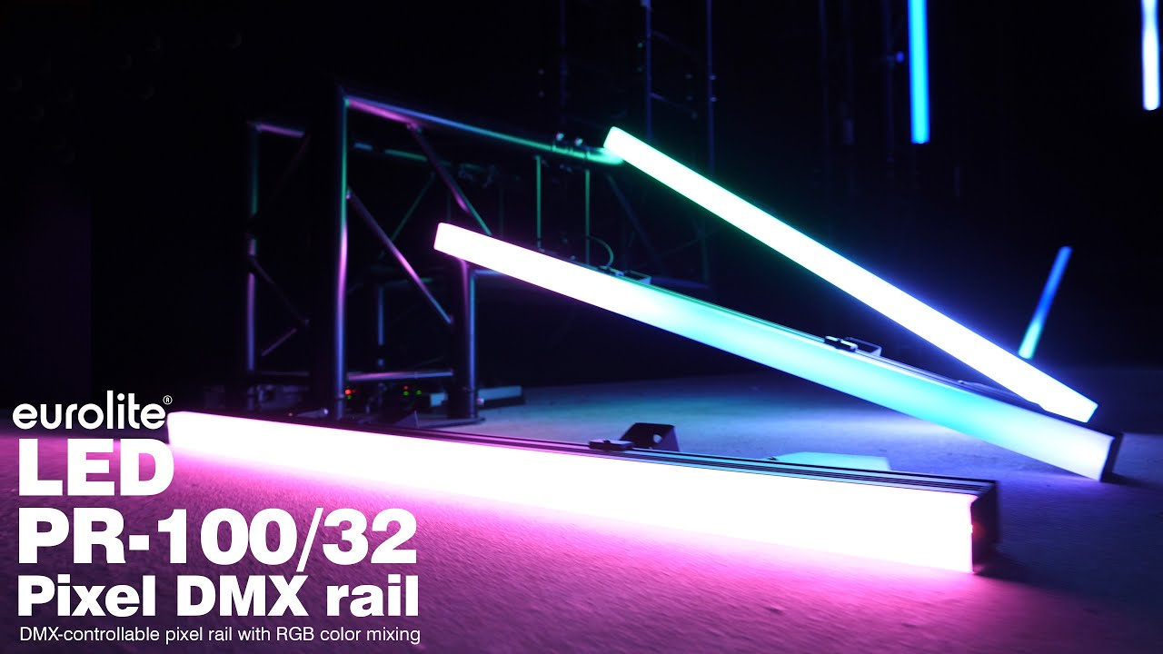 EUROLITE Set 10x LED PR-100/32 Pixel DMX Rail + DMX Software