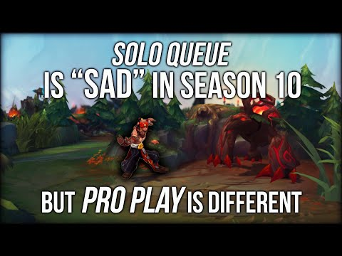 """Why League of Legends Solo Queue Is """"Sad""""... But Pro Play Is So Different"""