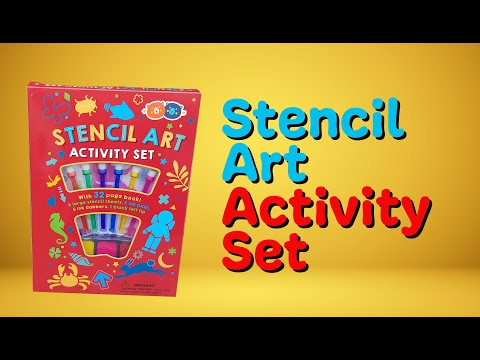 Youtube Video for Stencil Art - Activity Set with Ink Dabbers