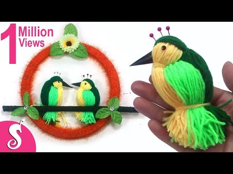 DIY Woolen Birds Wall Hanging for Home Decoration