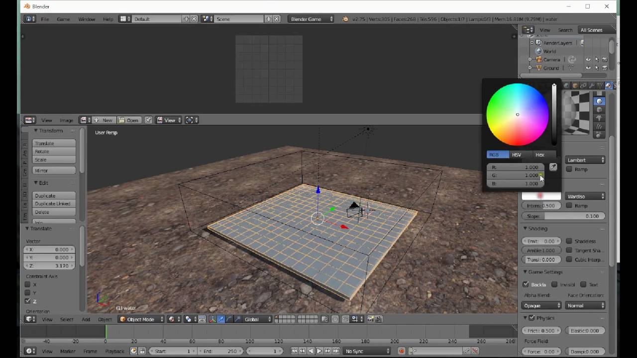 Real Time Water Tutorial (Blender game engine)